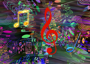 music: music-computer graphic