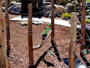 climbing ropes & nets3: children's public adventure park climbing ropes and nets