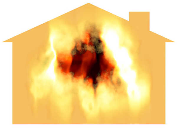 House on Fire: A graphic of a burning house. You may prefer: http://www.rgbstock.com/photo/p67pY4C/Happy+Home+6 or http://www.rgbstock.com/photo/2dyWqc5/House+1 or http://www.rgbstock.com/photo/dKTxor/Happy+Family+Happy+Home+2