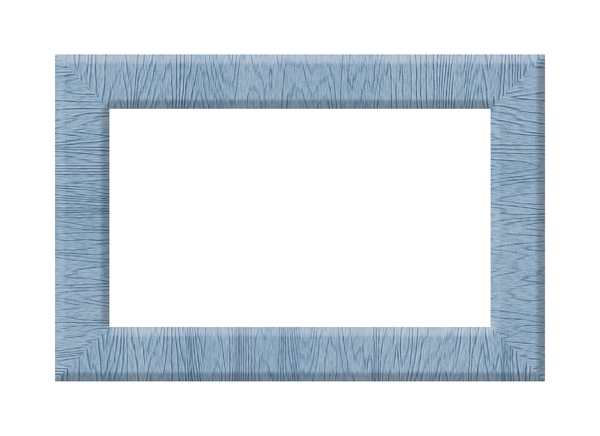 Blue Wooden Frame: A blue wooden frame on a white background.
