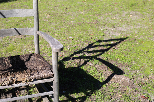 Old chair in the meadow