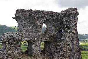Castle ruins: Castle ruins at Dryslwyn, Camarthenshire, Wales.