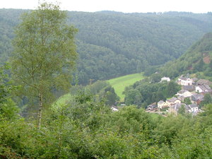Cugnon, Ardennes, Belgium: View on a village and landscape in the Ardennes, Belgium