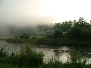 A foggy landscape by dawn: Mornig fog in the Ardennes