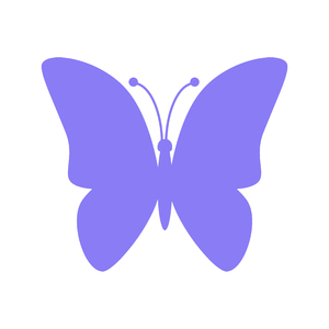 Purple Butterfly Icon