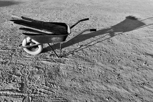 Wheel Barrow in B&W