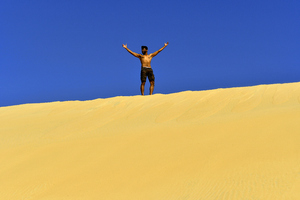 Jogging on a Desert Dune