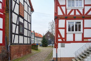 half-timbered street scenery