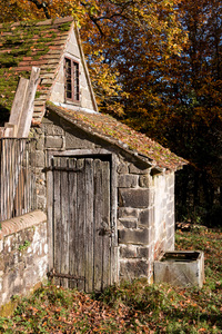 Old privy: An old rustic privy in West Sussex, England.