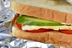 Sandwich for Breakfast: Best Breakfast Idea a sandwich with vegetables and egg and some butter of course. Great for snack too at any time of the day