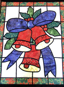 Christmas bells banner2: colourful Christmas wall hanging/banner featuring bells