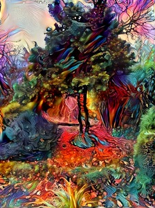 Psychedelic garden: Garden somewhere in Sweden, shot taken by a friend. Image rendered through