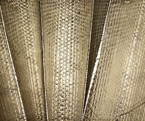 fanned foil1: creased and crinkled fanned silver foil sheet