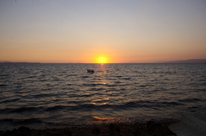 sunset in Patras