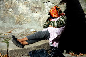 Homeless: Homeless in Porto city, Portugal, EU