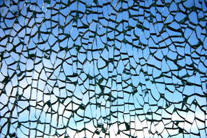 Broken glass: Broken glass in porto, portugal, eu.