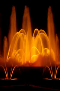 Fire Fountain: Magical fountains, in Spain