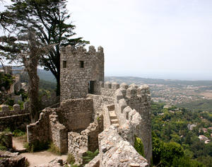 sintra castle 1: castle of the Moorish Sintra, Portugal