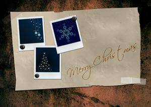 Grunge paper with christmas po