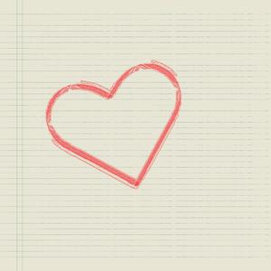 Heart on paper