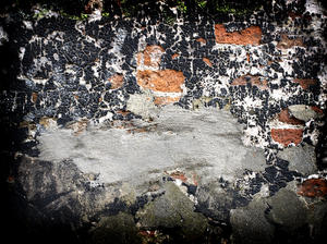 wall: old black wall