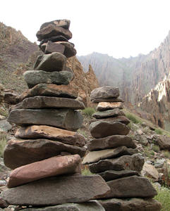 Cairn in the Himalayas: Cairn in the Himalayas