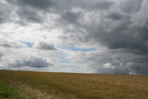 Moody sky: A temperamental sky in West Sussex, England, in spring.
