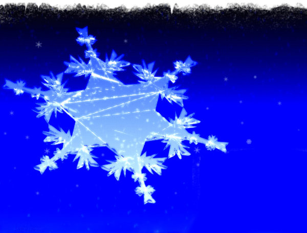 Snow Flake: A very old graphic I made for Christmas.