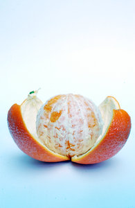 A stripped orange.