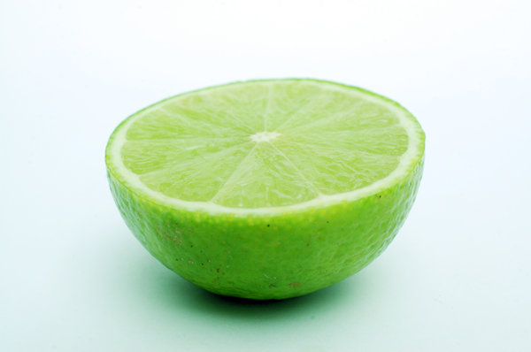 Lime in half.: A lime cut in two ...