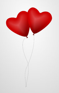 Heart shaped balloons