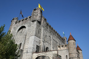 Belgian castle 2: The castle in Ghent, Belgium.
