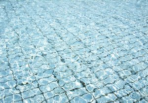 Pool floor: water in a pool