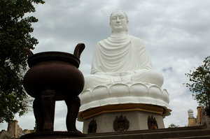 Buddha statue: Stone Buddha statue in Nha Trang, Vietnam.