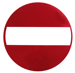 No Entry sign: No entry roadsign.Please mail me if you found it useful. Just to let me know!I would be extremely happy to see the final work even if you think it is nothing special! For me it is (and for my portfolio)!