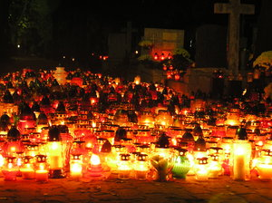 Candles on a cemetary: Candles on a cemetary, 1 of November, Poland.Please mail me if you found it useful. Just to let me know!I would be extremely happy to see the final work even if you think it is nothing special! For me it is (and for my portfolio)!