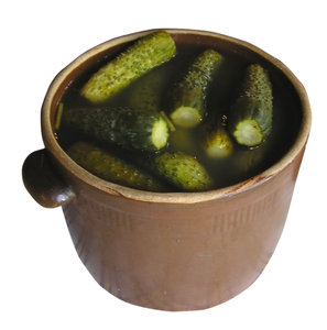 Pickles: Some Polish pickles, traditional style (no vinegar).Please comment this shot or mail me if you found it useful. Just to let me know!I would be extremely happy to see the final work even if you think it is nothing special! For me it is (and for my portfoli