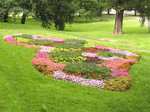 Flowerbed: A flowerbed in the park.Please comment this shot or mail me if you found it useful. Just to let me know!I would be extremely happy to see the final work even if you think it is nothing special! For me it is (and for my portfolio).