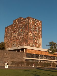 University of Mexico 5: University of Mexico (UNAM) campus. Central library building