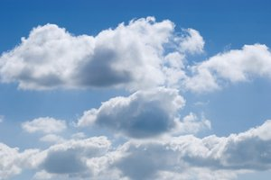 Clouds in blue sky 2: Summer clouds in bright blue sky