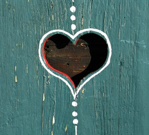 heart on wood 2