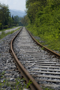 Abandoned way: An old railroad track, not used very often :)