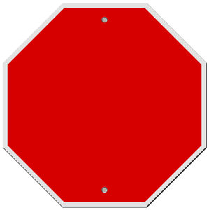 Blank Signs 1: Stop & Caution