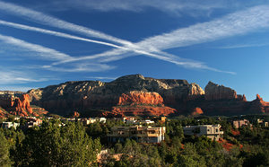 red rocks in sedona: red rocks from hotel in sedona arizona