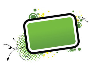 Green Abstract Banner: Abstract frame for your text