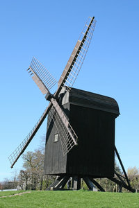 Black windmill: An old windmill in Denmark.