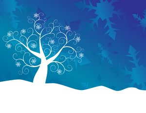 Blue Snowflake Tree