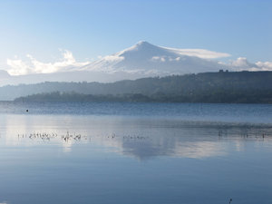 volcan villarica 2: volcan and lake Villarica in the south of Chile
