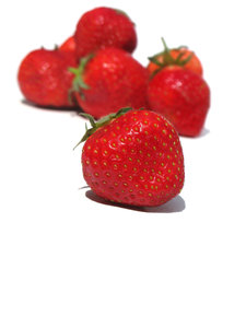 ripe strawberries: none