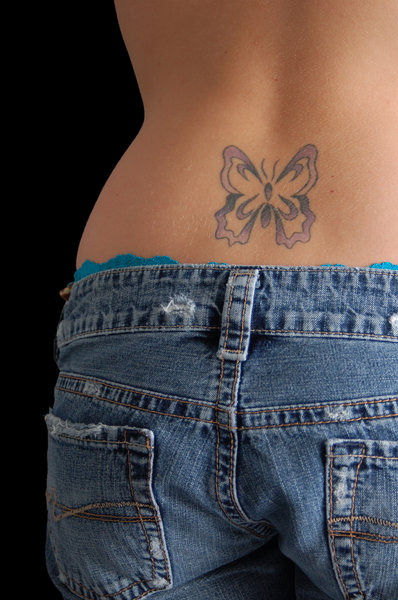 Tattoo: A young woman's back